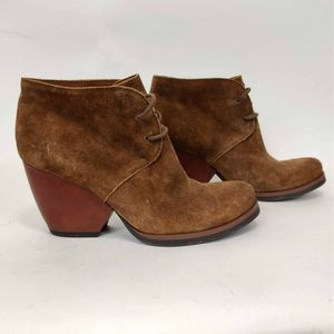 Kork Ease Roana Lace Up Ankle Boot Brown Suede
